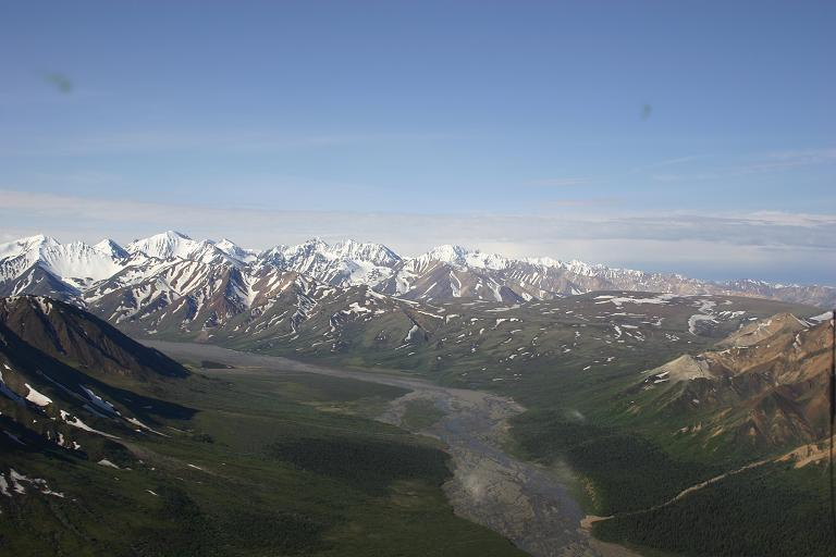 Helicopter Flight Over Denali National Park